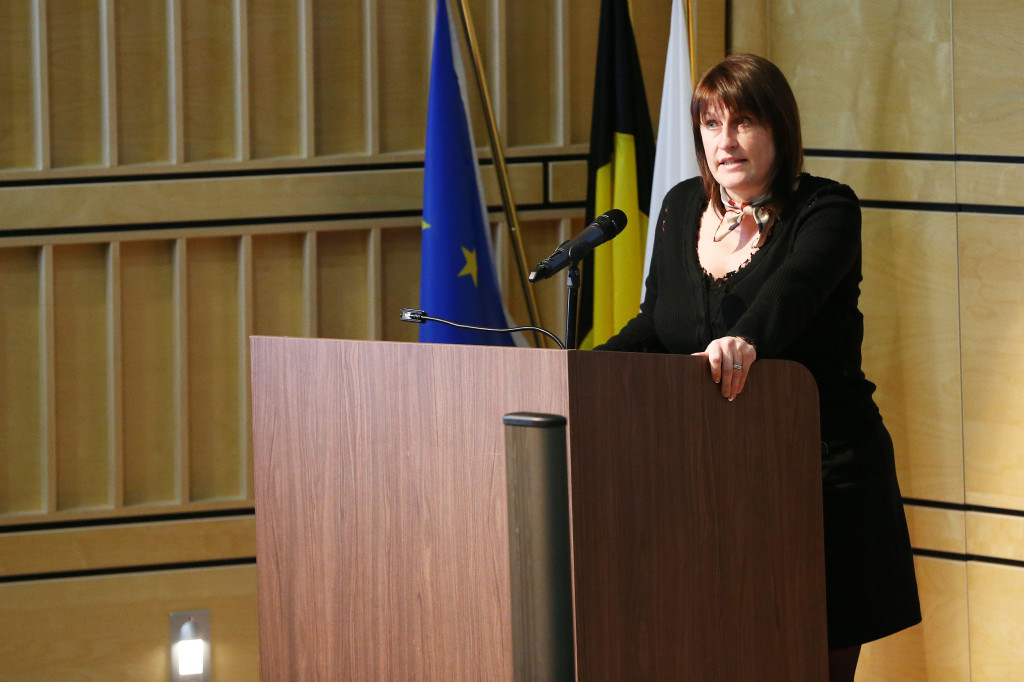 20150121 - Brussels - Belgium - 21 January 2015 - BEUAS New Year Reception 2015 -Jacqueline Galant , Belgian federal minister fo mobility ©Scorpix - Patrick Mascart